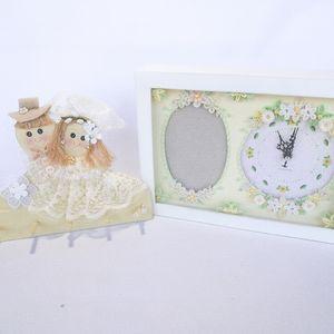 Wedding decorations clock & key hanger